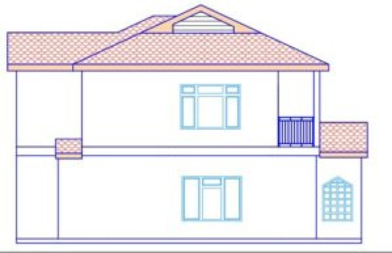 mansion house plan in kenya (east elevation elevation)