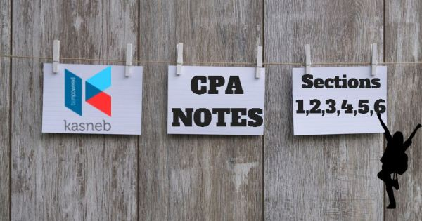 KASNEB CPA Notes section 1, 2, 3, 4, 5, and 6 certified by strathmore university, latest version