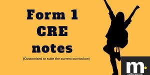 Form one CRE notes