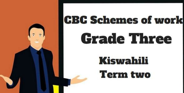 Kiswahili term 2, grade three, cbc schemes of work