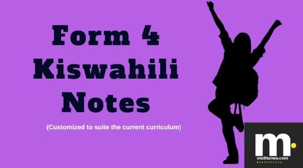 form 4 kiswahili revision note