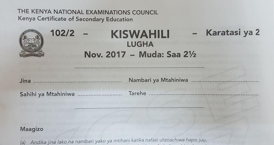 Kcse 2018 Papers Pdf