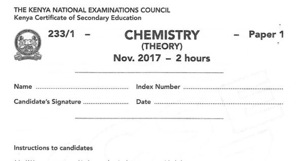 2017 chemistry paper past paper with answers and marking schemes for 2018 candidates revision
