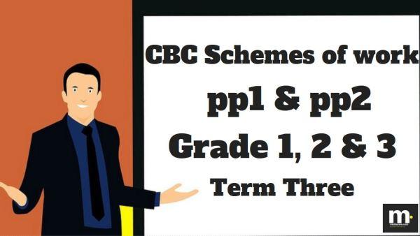 Kiswahili Grade 3 CBC schemes of work , Term three, free pdf download