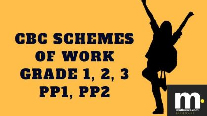 Download free schemes of work pdf for grade 1, Grade 2, Grade 3, pp1, pp2 pdf