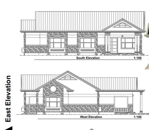 Simple 3 bedroom house plan for a small family in Kenya