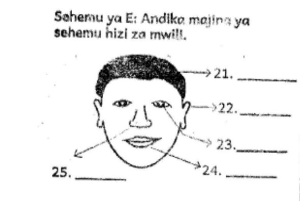 Grade 2 Kiswahili Exams Past Papers (End Of Term 1 2018)