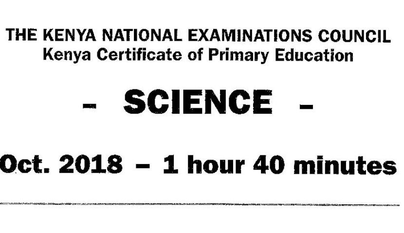 KCPE Past Papers 2018 with Answers (Combined Subjects