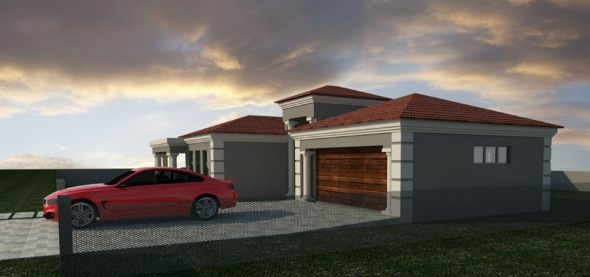 3 bedroom house plan with garage