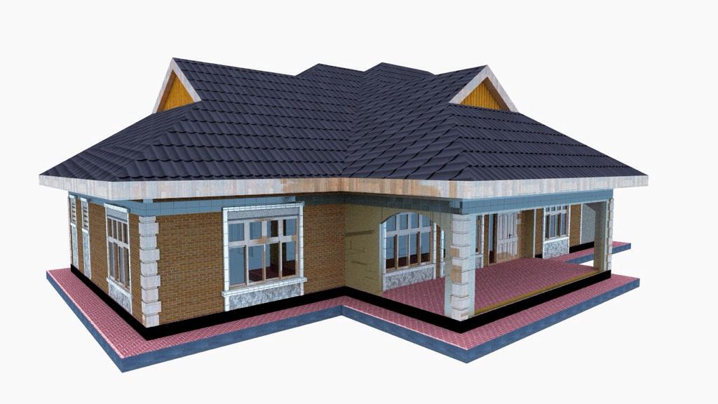 Simple 3 bedroom house plan for a small family in Kenya ...