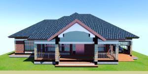 3 Bedroom house plan for a medium Family in Kenya