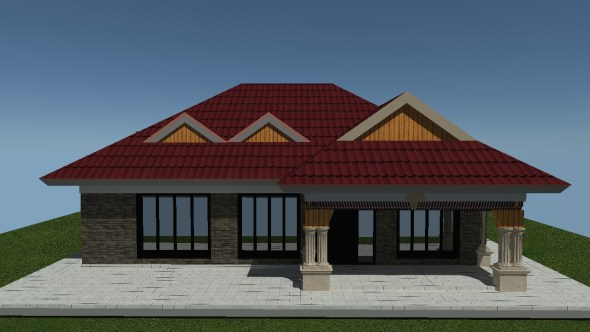 budget 3 Bedroom house plan with floor plan kenya