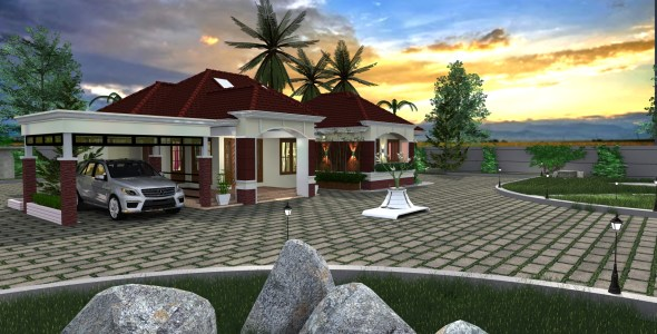 Four Bedroom Bungalow house Design in kenya