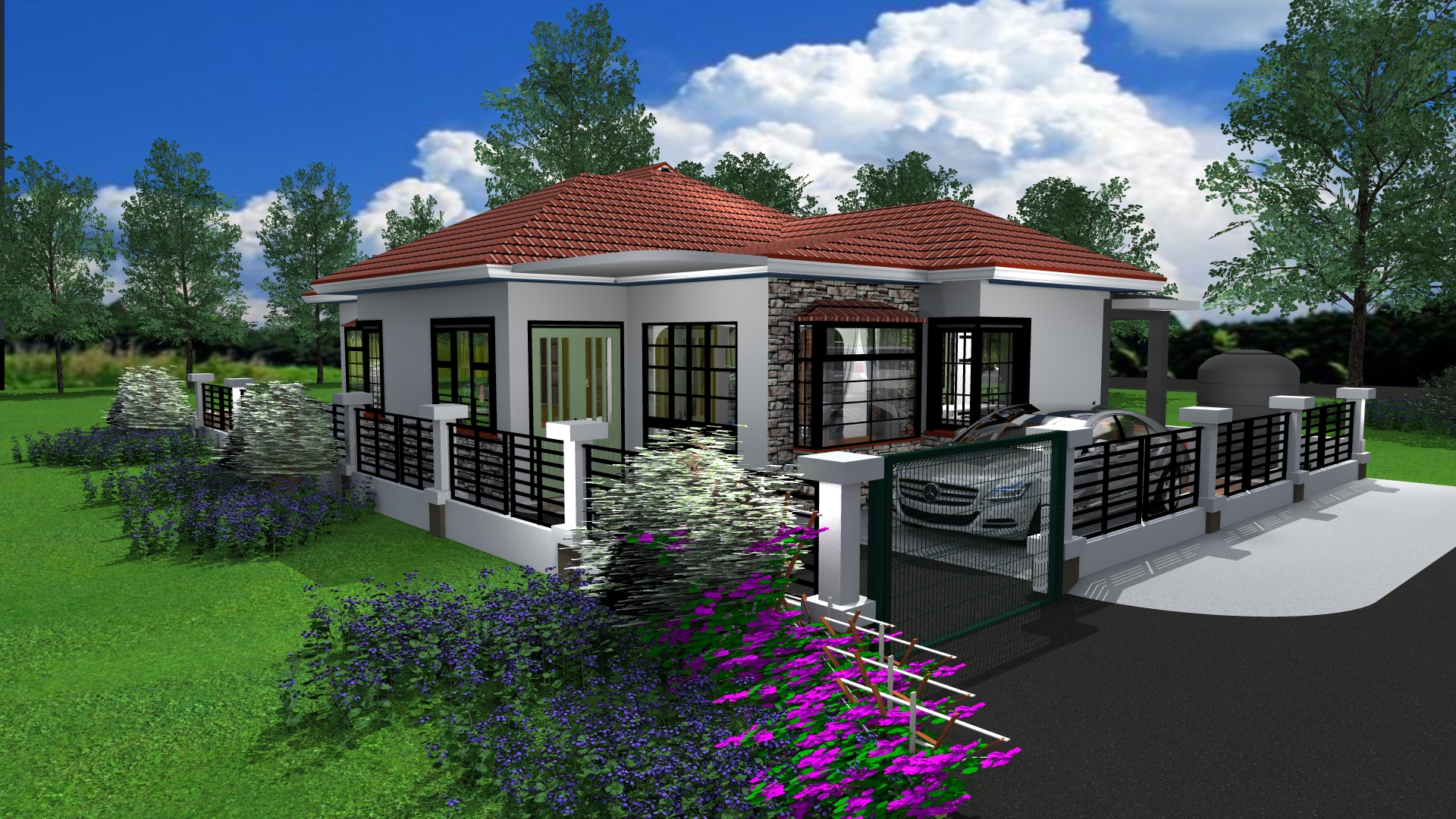 Three bedroom Bungalow House Design in Kenya - Muthurwa.com