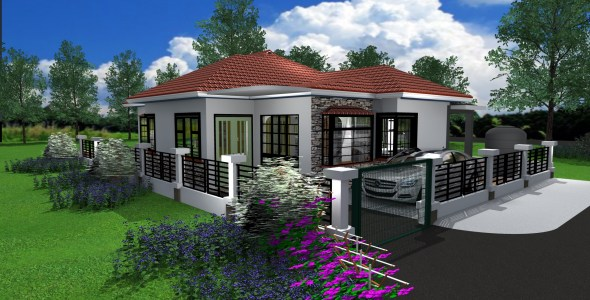 beautiful Cheap 3 bedroom Bungalow House Design in Kenya