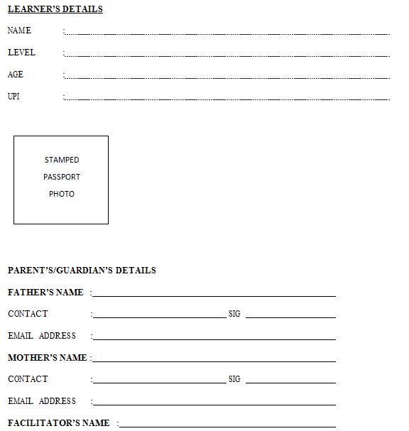 Grade 1 new cbc report card