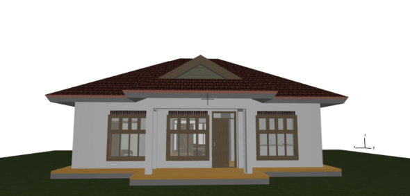 simple three bedroom house plan in kenya