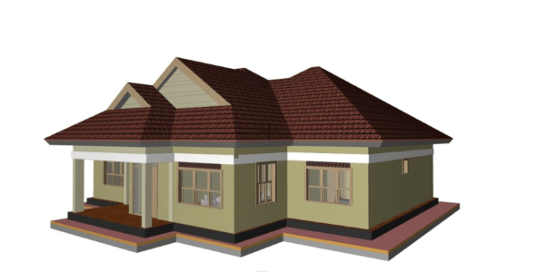 simple two bedroom house plans in kenya