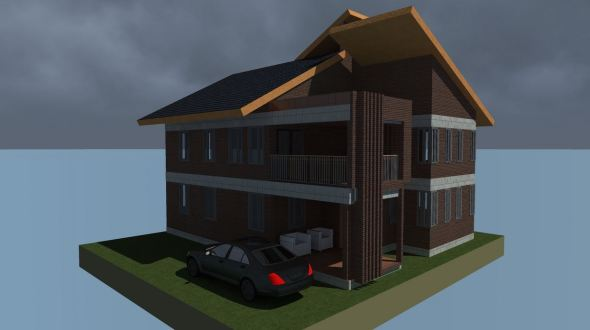 4 bedroom Simple mansion house plan done by professionals