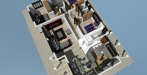Free 3 Bedroom house plan