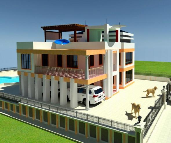 4 bedroom mansion house plan in kenya