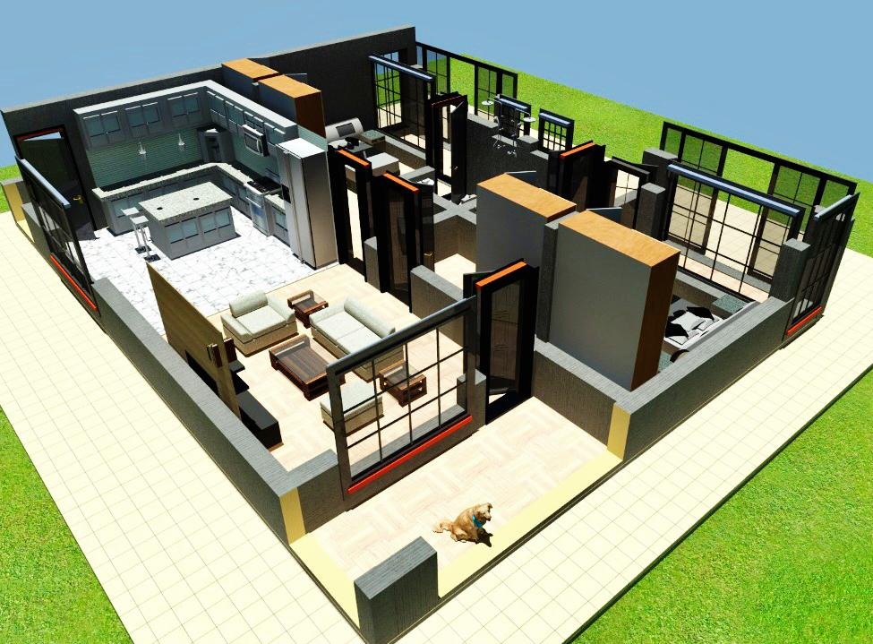 2 Bedroom House plan for a family in Kenya - Muthurwa ...
