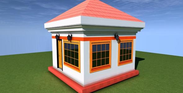 1 bedroom simple house plan