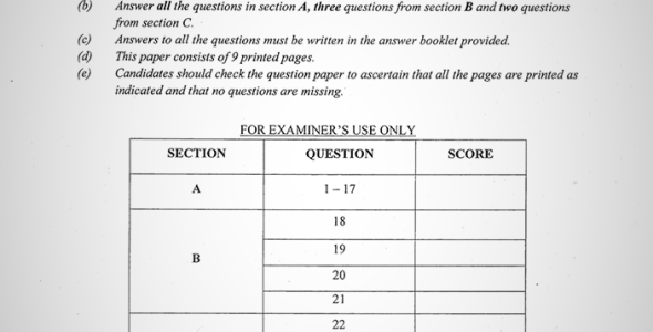 Maranda High School Post-Mock Form 4 History Paper 2 (September 2019)