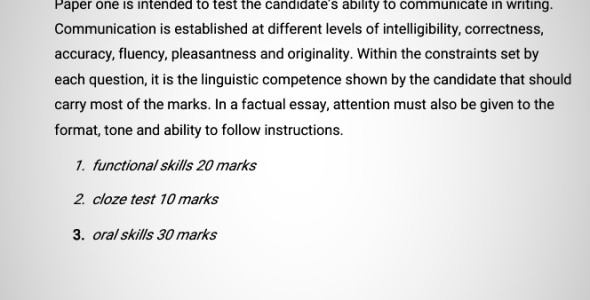 Through the Eye of an Examiner English Paper 3 (The Pearl Setbook)