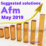 CPA Advanced Financial Management question and answers(May 2019)