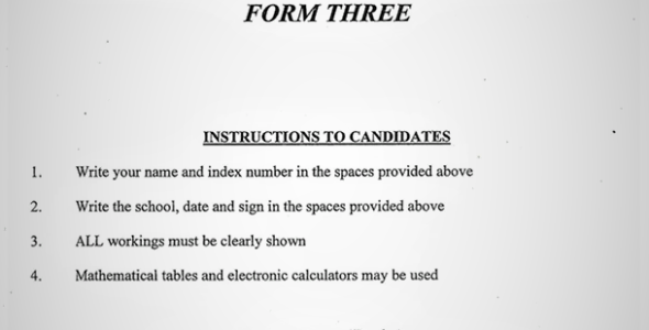 Maranda Chemistry Form 3 Paper 1 Mid-Term 1