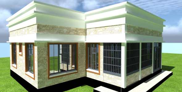 3 Bedroom modern house plan