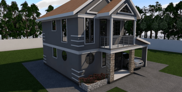 Stylish 4 Bedroom Maisonette House Plan