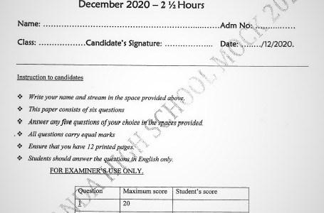 Maranda Mock Business Studies Paper 2 2020(With Marking Scheme)