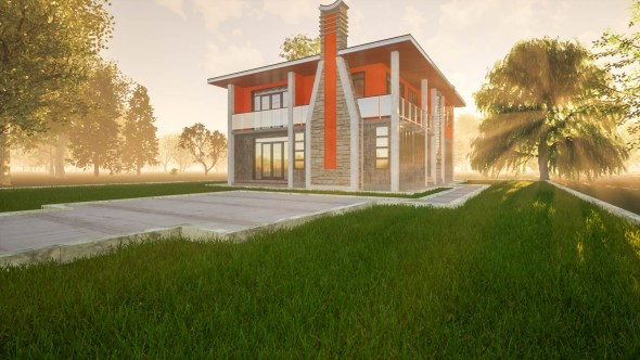 Five Bedroomed Maisonette House Plan