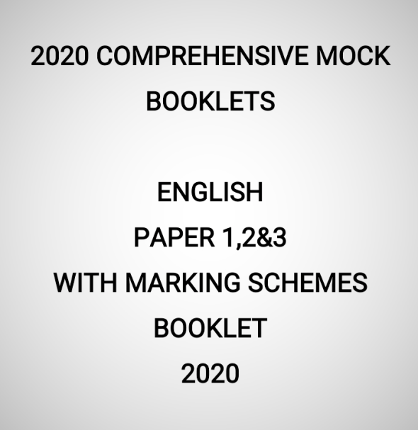 2020 Mock English Paper 1,2&3 Booklet (With Marking Schemes)