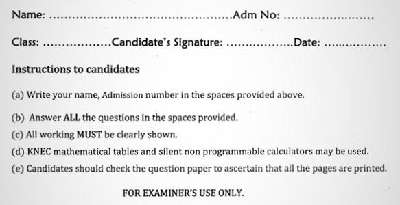 Maranda Physics PP1 Form 3 End of Term 3 2021