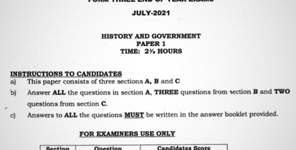 Maranda History & Government PP1 Form 3