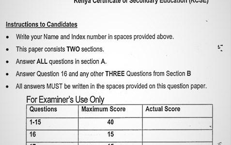 Maranda Computer Studies PP1 Form 3