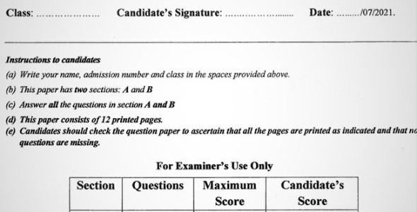 Maranda Geography PP1 Form 3 End of Term 3 2021