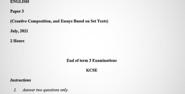 Maranda English PP3 Form 3 End of Term 3 2021