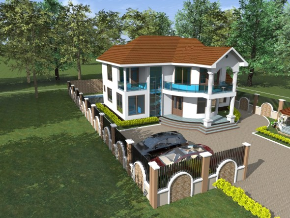 4 Bedroom House Plan 2 Storey