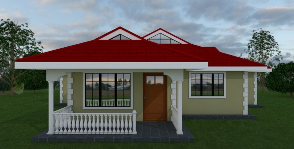 Two Bedroom Bungalow House Plan