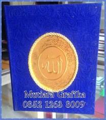 Cetak buku yasin murah cover bludru biru
