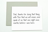 Funny Father's Day Card: When you can't mention the three letter word directly