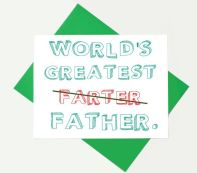 Funny Father's Day Card: Psst