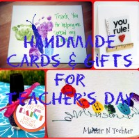 7 Last minute handmade gifts and cards for Teacher's Day