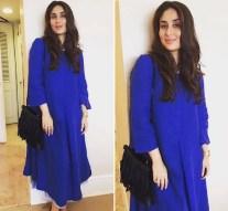 Maternity Fashion: Pregnant Kareena Kapoor dressed blue flowy tunic