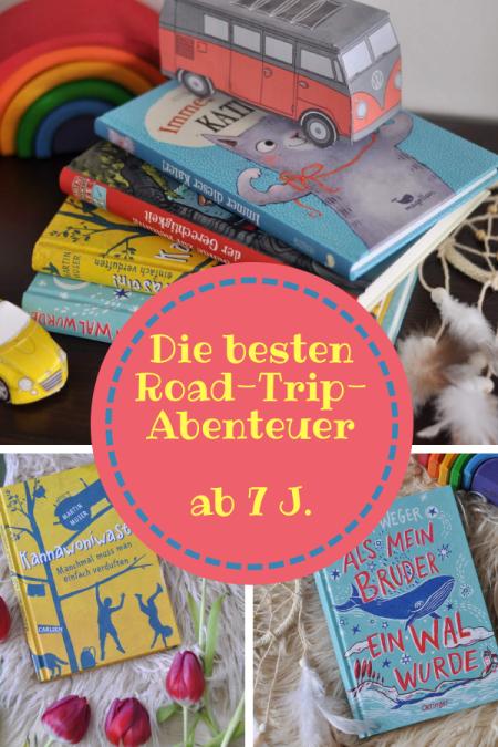 Kinder, Reisen, Abenteuer - diese vier Roatrip-Bücher für Kinder ab 8 Jahren sind voll gepackt mit Abenteuer. und zwar aus ganz unterschiedlichen Gründen. #roadtrip #abenteuer #lesen #kinderbuch #wal #kater #robin #berlin