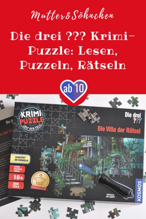 Leuchtpuzzle für kleine Detektive: Mit den drei ??? Lesen, Puzzeln und einen Kriminalfall lösen. Die perfekte Beschäftigung für verregnete Tage. #puzzle #spiel #diedrei #kind #rätsel #detektiv